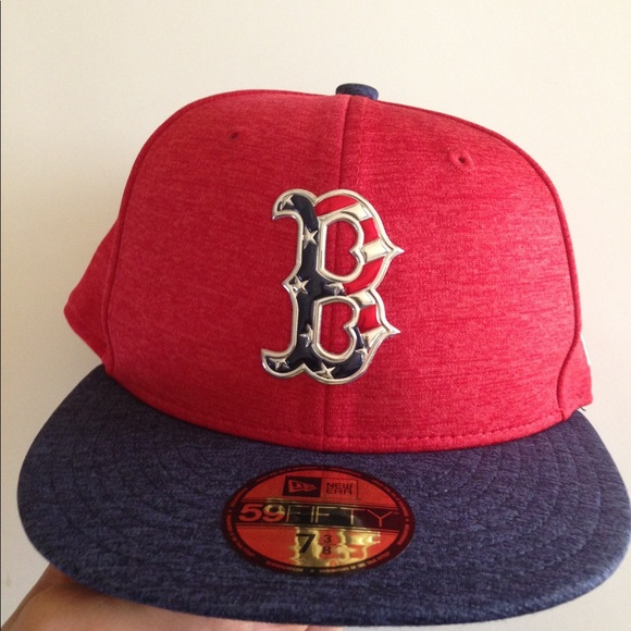 Boston Red Sox New Era Fitted Hat 7 3 8 4th July b726f4953a0